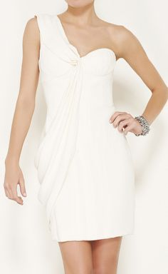 J. Mendel crepe silk dress with built in bustier. I like the top but the dress is too short.
