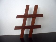 Reclaimed Wooden Pound Sign Twitter Hashtag Geekery