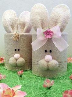 Spring Crafts For Kids, Bunny Crafts, Easter Crafts For Kids, Christmas Crafts For Adults, Holiday Crafts, Diy Ostern, Easter Projects, Diy Easter Decorations, Easter Crochet
