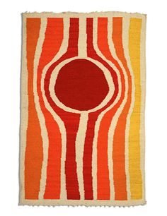 Preview ceramics, mosaics, tapestries, and wood carvings by Jerome and Evelyn Ackerman Photos | Architectural Digest -- Evelyn's Labyrinth handwoven wool tapestry, 1969.