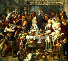 §§§ : The King Drinks : Jacob Jordaens : 1638