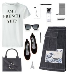 """""""Am I French yet?"""" by molly2222 ❤ liked on Polyvore featuring Être Cécile, Kenzo, Lanvin, Claudie Pierlot, Givenchy, BillyTheTree, Casetify, Yves Saint Laurent and denimskirts"""