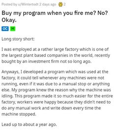In firing their employee, they didn't realizing they were firing their ability to produce anything. #program #fired #employee #revenge
