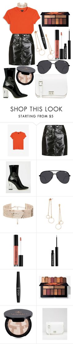 """""""OOTD 6.2.17"""" by angelsaffairs ❤ liked on Polyvore featuring Monki, Topshop, Public Desire, Quay, Forever 21, Anastasia Beverly Hills, NYX and The Leather Satchel Co."""