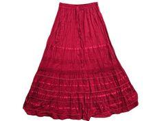 "Cotton Skirt for Womens Crimson Red Skirt Lacework Long Skirts 38"" Mogul Interior, http://www.amazon.com/dp/B0098G4K76/ref=cm_sw_r_pi_dp_XbCtqb0XA4YAQ$24.99"