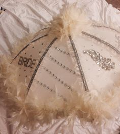 Personalized Bride umbrella: Vintage Theme