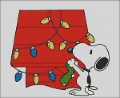 Snoopy's Christmas Cross Stitch Pattern PDF by lisalskinner, $3.00
