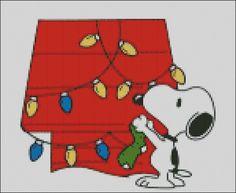 Snoopy's Christmas Cross Stitch Pattern PDF by lisalskinner, $3.00