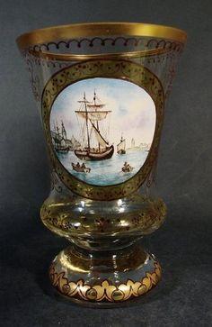 """""""Pokal mit Hafenansicht - Steinschönau um 1930"""""""
