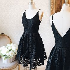 Uzo Secret #Boutique1861 - Also in red - A black lace dress is a good way to stay elegant and feminine ! #promdresses #bridesmaids