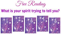 Free Reading: What is your spirit trying to tell you? I picked #4. Which did you pick?