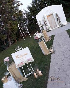 Γάμος σε κτήμα,ροζ άσπρες ορτανσίες. welcome sign white pink wedding Place Cards, Wedding Decorations, Place Card Holders, Wedding Decor