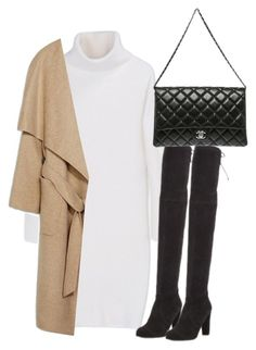"""""""Untitled #2985"""" by theeuropeancloset on Polyvore featuring DKNY, Stuart Weitzman and Chanel"""