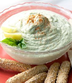 Garbanzo Basil Hummus #recipe
