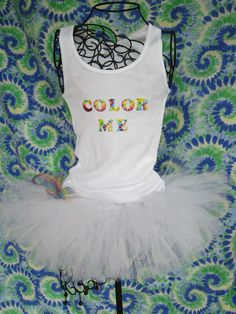 My Birthday outfit for the color run! With Birthday Girl on it or something