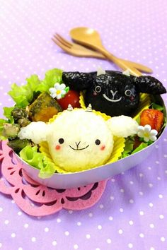 Goat onigiri bento