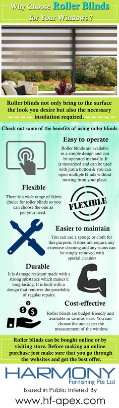 Roller blinds not only bring to the surface the look you desire but also the necessary insulation required. Check out the infographic for more details.