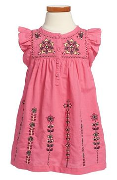 Tea Collection 'Malati Kantha' Embroidered Dress (Toddler Girls, Little Girls & Big Girls) available at #Nordstrom