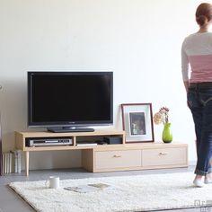 伸縮するテレビ台 伸びる、縮む、回転する日本製のTVボード T-003 オリジナル | インテリアショップ arne(アーネ)