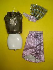 Vtg Jem and the Holograms 80s CLONE TOTSY Doll Clothes Lot Shell Blouse w Skirt