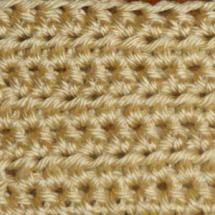 Rows of Half Double Crochet Stitch - Rows of Half Double Crochet Stitch -- Photo © Michael Solovay