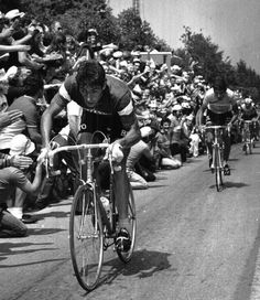 Francesco Moser riding a Benetto for Sanson, 1976-1977.