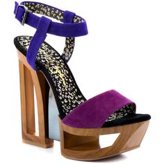 Jessica Simpson Tanya - Wisteria Combo Suede ($120) ❤ liked on Polyvore