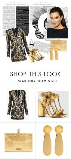 """""""Untitled #48"""" by seherzadahodzic ❤ liked on Polyvore featuring Balmain, Gucci and Marni"""