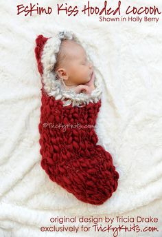 Christmas Cocoon Old World Vintage Photography Prop by TrickyKnits, $85.00 #knitting #photoprop