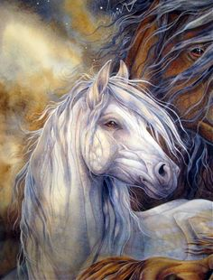 Jody Bergsma - Peintre - Aquarelle - Cheval