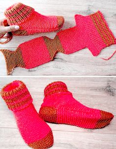 Two Needle Socks - Free Knitting Pattern - knitting socksYou can find Socks and more on our website.Two Needle Socks - Free Knitting Pattern - knitting socks Beginner Knitting Patterns, Loom Knitting, Knitting Socks, Knitting Stitches, Knit Patterns, Free Knitting, Knitting Needles, Knit Slippers Free Pattern, Crochet Socks