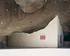 Home inside a cave.