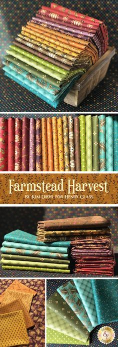Farmstead Harvest by Kim Diehl is a beautiful collection filled with unique gorgeous prints from Henry Glass Fabrics available at Shabby Fabrics.