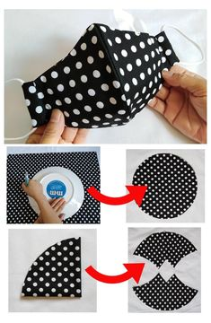 Sewing Hacks, Sewing Tutorials, Sewing Crafts, Easy Face Masks, Diy Face Mask, Homemade Face Masks, Mouth Mask Fashion, Sewing Projects For Beginners, Diy Mask