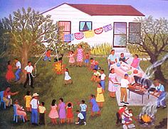 This is one example of Carmen Lomas Garza's paintings.
