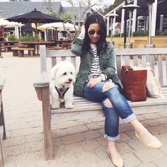 Crystalin Marie. Casual. Her pup is adorable!