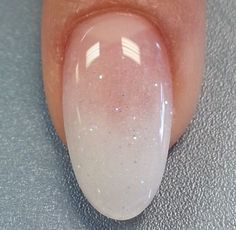 Clear glitter #NailShapes