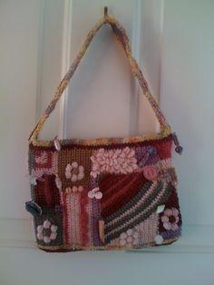 Crocheted evening bag