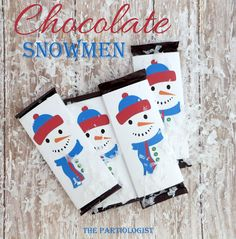 Free Snowman Candy Wrapper Templates   Snowman Candy Bar Box - free ...