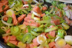 Lavkarbo kjerringa: Skinke -og blomkålgrateng Holidays And Events, Fruit Salad, Pasta Salad, Cantaloupe, Salsa, Food And Drink, Ethnic Recipes, Tips, Crab Pasta Salad