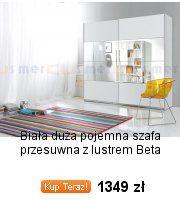 Szafa 4 drzwiowa z lustrem Selene biały połysk - 5645384925 - oficjalne archiwum allegro
