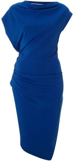 Mary Portas Twistdetail No Brainer Dress in Blue (Azure) - Lyst Foto Fashion, Fashion Beauty, Womens Fashion, Pretty Dresses, Beautiful Dresses, Business Attire, Work Attire, Dress Codes, Passion For Fashion