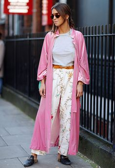 A kimono so good, you barely register those Gucci slides. Think pink and opt for a candy-coloured 'mono, then proceed to pair it with every single off-duty 'fit, including – but not limited to – your fave floral trews and low-key grey tee combo. Top tip? Seal your kimono's swoon-worthiness by ensuring it's velvety-as