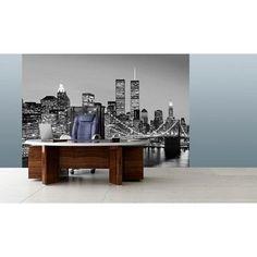 "New York Skyline on this Wall Mural ""00957 Manhattan Skyline at Night"""