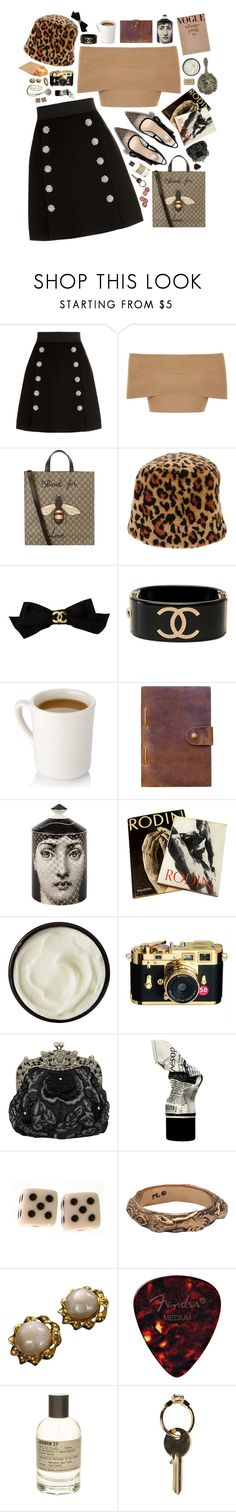 """eden"" by etherealangel ❤ liked on Polyvore featuring Dolce&Gabbana, Blue Vanilla, Gucci, Miu Miu, Chanel, Rear View Prints, Fornasetti, Rodin, Josie Maran and Disney Couture"