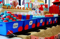 thomas the train party ideas   Items used in this party available in Kara's Party Ideas Shop :