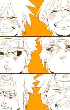 Uchiha Madara-Senju Hashirama/Uchiha Obito-Hatake Kakashi/Uchiha Sasuke-Uzumaki Naruto.....OF CHILDREN <3 sooooo cute <3