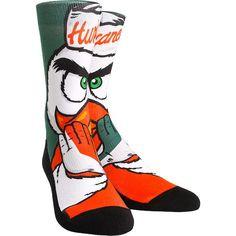 Women's Miami Hurricanes Mascot Crew Socks