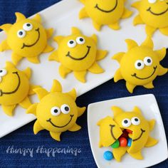 Enjoy some fun summertime treats that will warm your heart and fill your belly. Break open a Sunshine Pinata Cookie to find candy hiding inside.