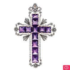 Vintage Amethyst Cross